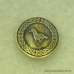 Celtic Horse Brass Hair Tie BHT-38