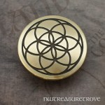 Seed of Life - Brass Hair Tie BHT-75
