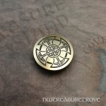 Celtic Cross - Brass Hair Tie BHT-76