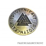 Viking Valknut - Brass Hair Tie BHT-77