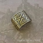 Celtic Square Knots Bronze Ponytail Holder BRC-10