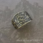 Celtic Triskele Bronze Ponytail Holder BRC-18
