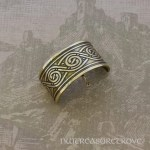Celtic Swirl Bronze Ponytail Holder BRC-19