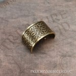 Celtic Knots Bronze Ponytail Holder BRC-5