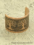 3 Celtic Trees of Life Copper Ponytail Holder CC-101