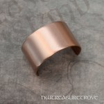 Brushed Metal Copper Ponytail Holder CC-111