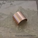 Plain Metal Copper Ponytail Holder CC-113