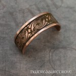Celtic Swirl Copper Ponytail Holder CC-12