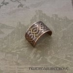Celtic Knot Copper Ponytail Holder CC-1