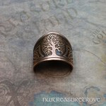 Celtic Tree of Life Copper Ponytail Holder CC-2