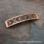Tribal Design Copper Large Barrette CHC-105