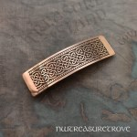 Celtic Wide Knot Copper Large Barrette CHC-29