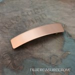 Brushed Metal Large Copper Barrette CHC-30