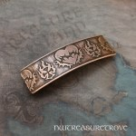 Scottish Thistle Large Copper Barrette CHC-4
