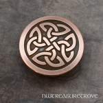 Celtic Knot Round Copper Hair Tie CHT-31