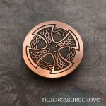 Celtic Cross Copper Hair Tie CHT-41