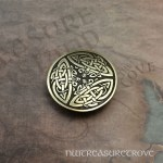 3 Celtic Dragons Brass Hair Tie BHT-34