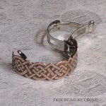 Custom Celtic Knot Copper Ponytail Clip CPC-201