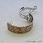 Celtic Swirl Copper Ponytail Clip CPC-7