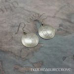 Medieval Mermaid Earrings Nickel Silver NE-13