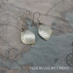 Spiral Serpent Earrings Nickel Silver NE-14