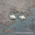 Zodiac Sign Gemini Earrings Nickel Silver NE-36