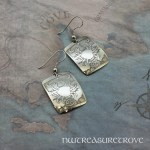 Zodiac Sign Cancer Earrings Nickel Silver NE-37
