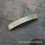 Celtic Wide Knot Nickel Silver Large Barrette NHC-29