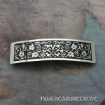 Tribal Dolphin Large Nickel Silver Barrette NHC-17
