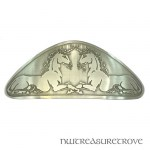 2 Unicorns Large Nickel Silver Barrette NHC-8