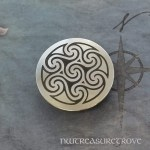 Celtic Seven Spirals Round Nickel Silver Hair Tie NHT-103