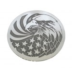 Eagle & Flag Nickel Silver Hair Tie NHT-103