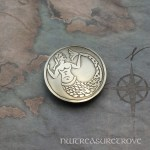Medieval Mermaid Nickel Silver Hair Tie NHT-16
