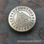 Viking Valknut - Nickel Silver Hair Tie NHT-177