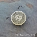 Eye of Horus Nickel Silver Hair Tie NHT-17