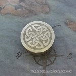Celtic Knot Round Nickel Silver Hair Tie NHT-31