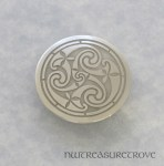 Celtic Triskele Nickel Silver Hair Tie NHT-5