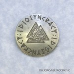 Viking Valknut - Nickel Silver Hair Tie NHT-77