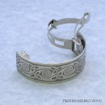 Celtic Knot Nickel Silver Ponytail Clip NPC-52