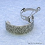 Celtic Knots Nickel Silver Ponytail Clip NPC-5