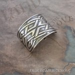 Celtic Square Knots Sterling Silver Ponytail Holder SC-10