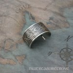 Celtic Swirl Sterling Silver Ponytail Holder SC-19