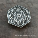 Celtic Hexagon Knot Sterling Silver Hair Tie ST-5