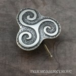 Celtic Swirl / Trinity knot Sterling Silver Hair Tie ST-7
