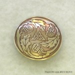 Scottish 3 Thistle Brass Hair Tie BHT-11