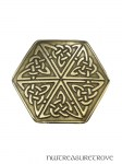 Celtic Hexagon Knot Bronze Hair Tie BRHT-5