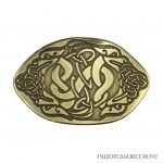 4 Celtic Dragons Bronze Hair Tie BRHT-8
