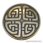 4 Celtic Knots ( round ) Bronze Ponytail Tie BRHT-9
