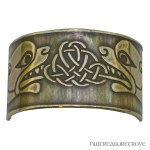Celtic Beasties Bronze Ponytail Holder BRC-12