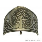Celtic Tree of Life Bronze Ponytail Holder BRC-2